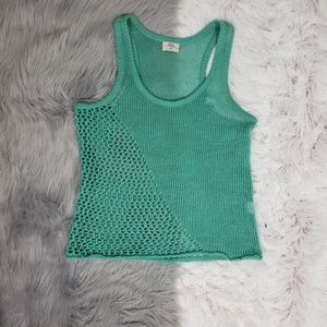 WALLACE Teal Grean Knit Racerback Tank Top